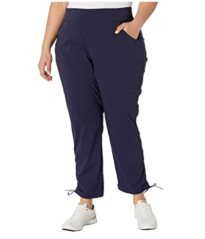 Columbia Plus Size Anytime Casualtm Ankle Pants (Dark Nocturnal) Women