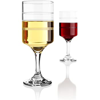 Wine-Trax, the measuring wine & beverage glass, set of 2