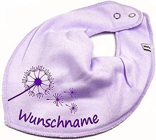 Elefantasie Halstuch Pusteblume mit Namen oder Text personalisiert für Baby oder Kind Verschiedene Ausführungen