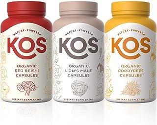 KOS Lion's Mane + Red Reishi + Cordyceps Capsules Bundle