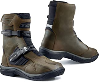 TCX Men's Baja Mid Waterproof Street Motorcycle Boots - Brown Size 43