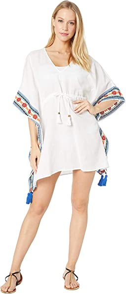 Ravena Embroidered Beach Caftan Cover-Up