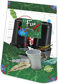 Fun® Everyday Disposable Plastic Cup 6oz - Assorted Colors, Pack of 50