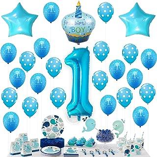 1st BIRTHDAY BOY BALLOONS SET - BONUS - Printable Party Planner and Checklists