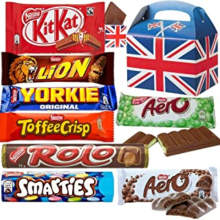 Nestle Selection Box - 8 Full Size Chocolate - Aero Milk Chocolate Bar, Aero Peppermint Chocolate Bar, Toffee Crisp, Nesle Rolo, Kit Kat, Smarties, Lion Bar & Yorkie Milk Chocolate.