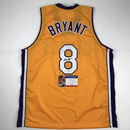 Autographed/Signed Kobe Bryant #8 Los Angeles Yellow Basketball ...