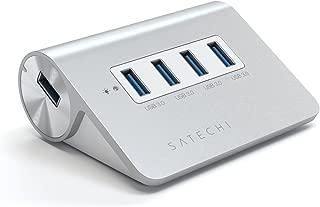 Satechi 4ポート USB 3.0 プレミアム アルミニウム ハブ (ホワイトトリム) V.2