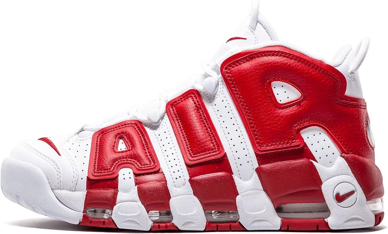 Soplar acento Barriga  Amazon.com | Nike Mens Air More Uptempo Chi QS Chicago University Red |  Basketball