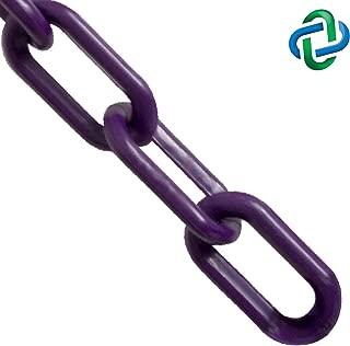 Mr. Chain Plastic Barrier Chain, Purple, 1-Inch Link Diameter, 25-Foot Length (10023-25)