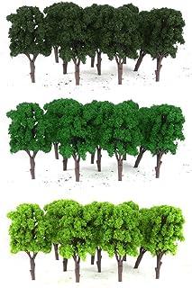 10st modell träd växter 11 cm grön tåg järnväg arkitektur Diorama HO OO skala för DIY hantverk eller byggnadsmodeller