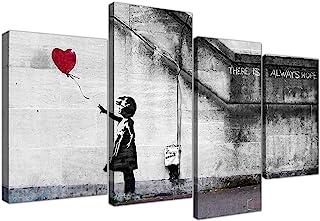 Wallfillers Extra Grande Banksy Lienzo (130 cm), diseño del