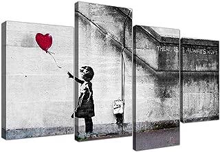 Wallfillers Extra Grande Banksy Lienzo (130 cm), diseño del Chica del Globo de Graffiti 4050