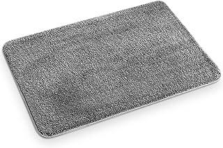 RenFox Tapis de Bain Absorbant Antidérapant Tapis de Douche Microfibre Doux Lavable en Machine Tapis de Sol Salle de Bain ...