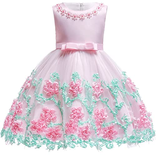 36ab34bba Baby Girls Flower Dress Wedding Party Toddler Dres Birthday Special  Occasion Girls Dress