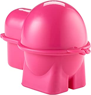 Hutzler 399PK Snack Container, Egg To-Go, Pink