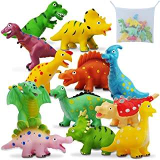 Gizmovine Dinosaur Baby Bath Toys for Toddlers, 12 Pack Bathtub Toys for Boys and Girls, Safe Dinosaur Figures Playset Wat...