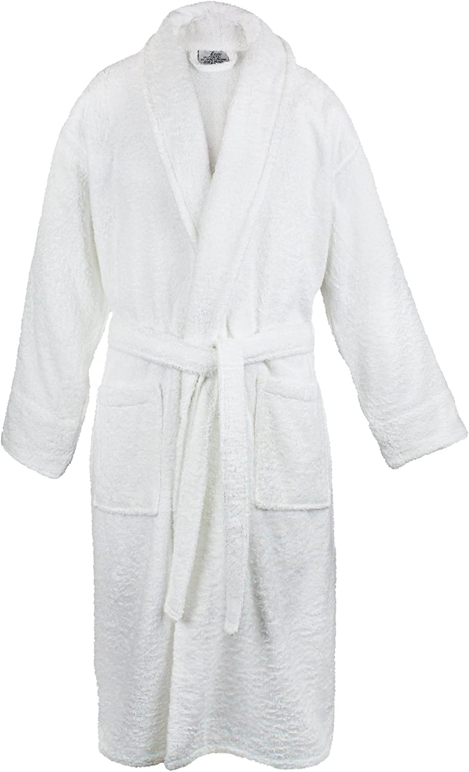 BC BARE COTTON 100% Turkish Women Terry Shawl Robe, Small Medium, White