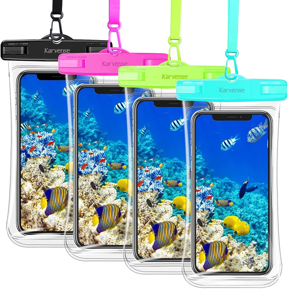 Waterproof Phone Pouch, Karvense Waterproof Phone Case/Bag/Holder for iPhone/Samsung Galaxy/Moto/Xiaomi, up to 7.0