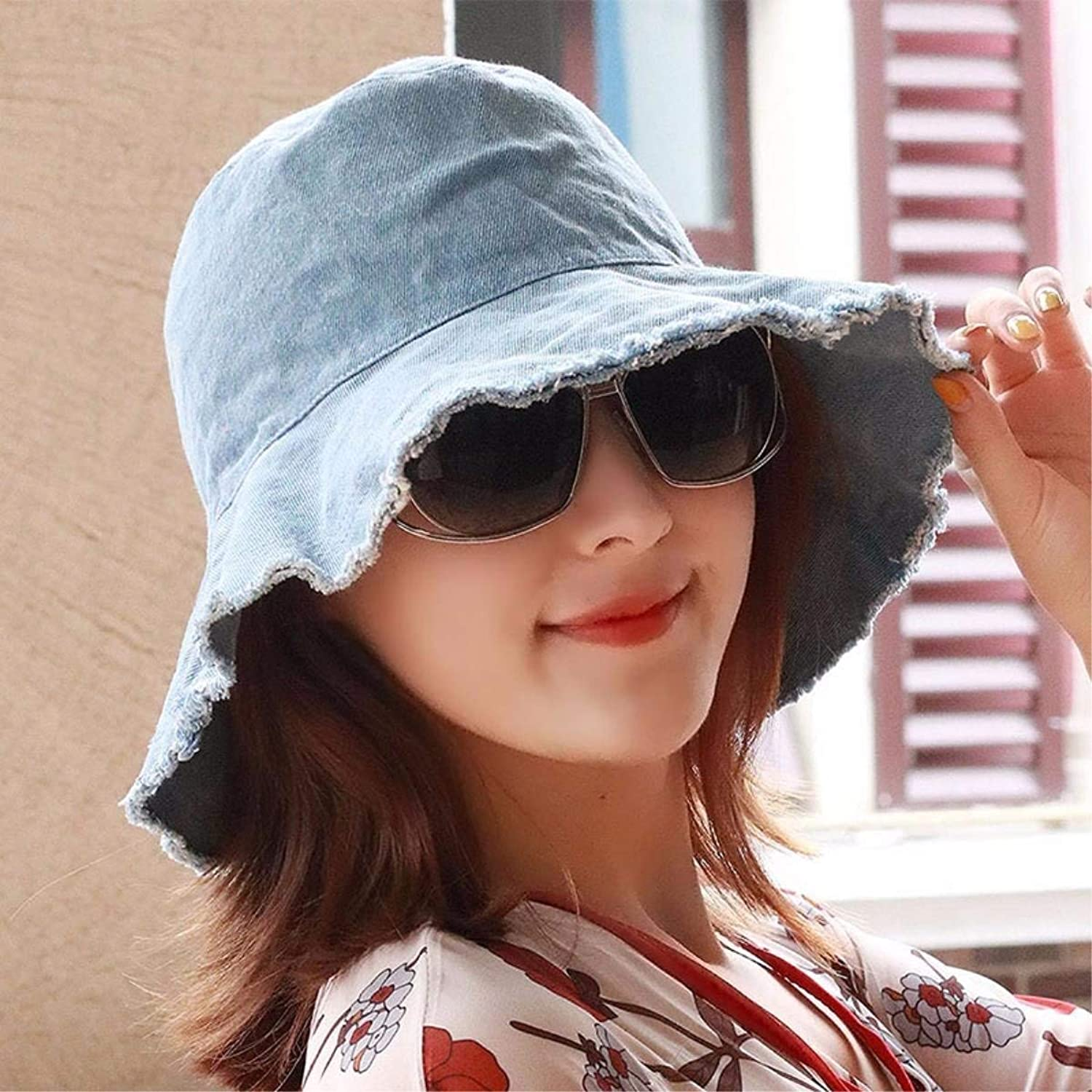 Dingkun The spring and summer arts small fresh teargender couples visor sun hat fisherman's cap basin cap cotton hat