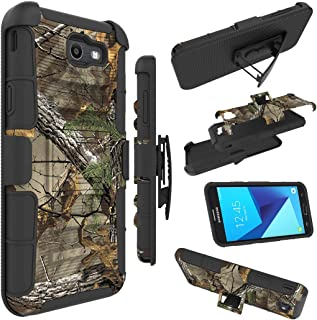 Galaxy J7 V Case, Galaxy J7 Perx Case, J7 Sky Pro Case, Zoeirc [Heavy Duty] Armor Shock Proof Dual Layer Holster with Kickstand & Belt Clip Holster for Samsung Galaxy Halo / J7 2017 (camo)