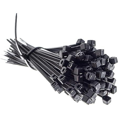 Premium Kabelbinder In Schwarz 100 Stück 100mm X 2 5mm Uv Hitze Und Kältebeständig Extra Stark Geprüfte Qualität Baumarkt