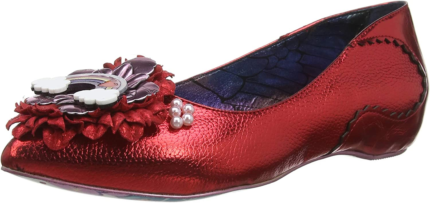 Irregular Choice Little Lady Flats in Red