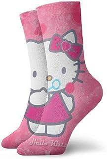 eneric, Hello Kitty Socks Crew Divertido Casual Unisex Adulto Hombre 'S Niños Anime Impresión Tobillera Niño Calcetín Acolchado Cool 90' S