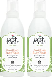 Earth Mama Sweet Orange Baby Wash With Gentle Castile Soap for Sensitive Skin, 34-Fluid Ounce (2-Pack)