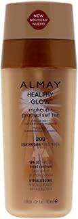 Almay Healthy Glow Makeup Plus Gradual Self Tan - 200 Light-medium By Almay for Women - 1 Oz Foundation, 1 Oz