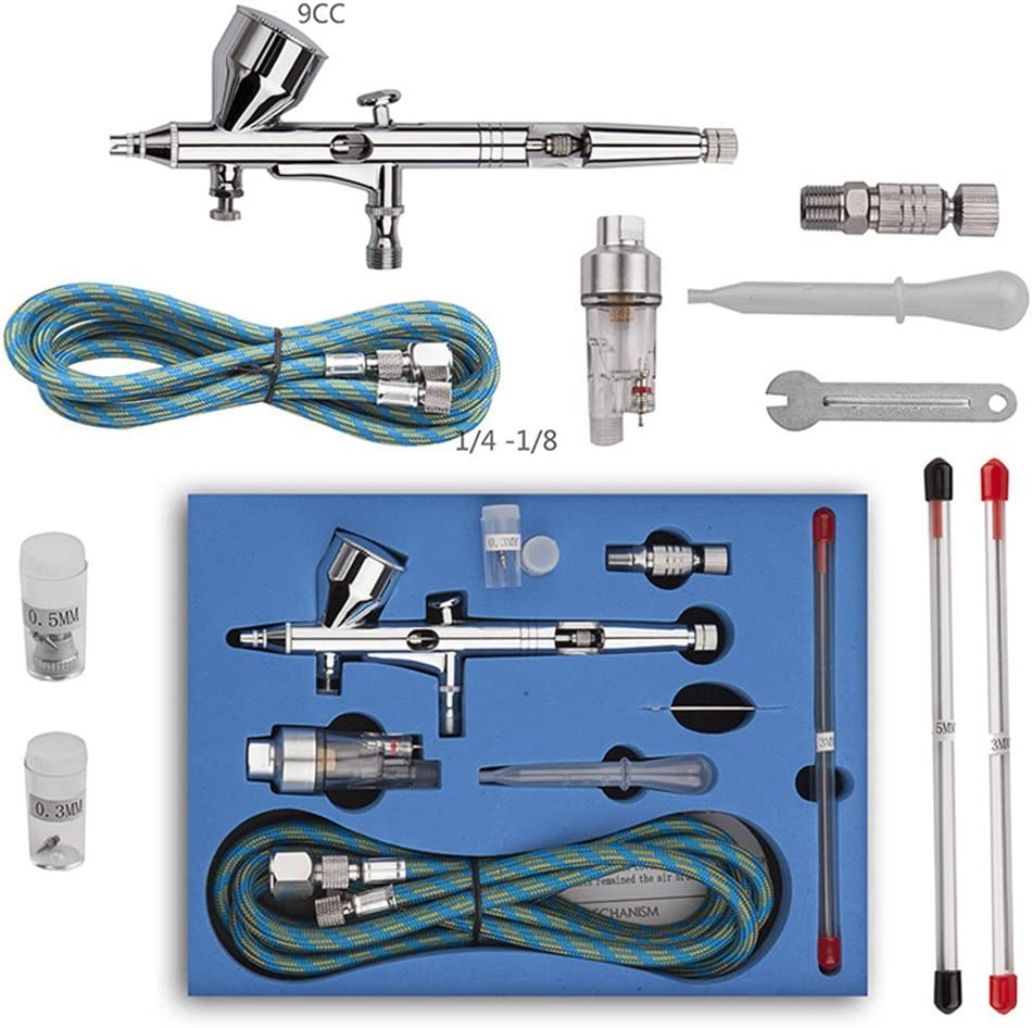 Dual Virginia Max 41% OFF Beach Mall Action Trigger Airbrush Kit Air Gravity Control Feed Paint