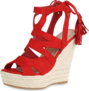 d87a4918 Amazon.es: Sandalias Rojas - Cordones / Sandalias de vestir ...