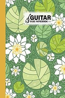 Guitar Tab Notebook: Premium Water Lillies Cover Guitar Tab Notebook, Music Paper Notebook, Blank Guitar Tablature Music N...