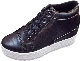 [ココマリ] 厚底 スニーカー レディース シューズ 厚底靴 シークレット インヒール シンプル 靴 歩きやすい 厚底スニーカー