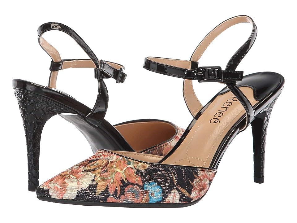 J. Renee Aleron (Black Multi/Gold) High Heels
