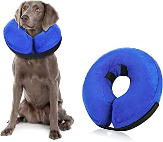 CANAGER Inflatable Dog Collar, Prevent Dogs from Biting, Scratching After Pet Surgery, Adjustable Strap, Soft and Comforta...