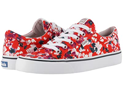 Keds Jump Kick Floral (Red Twill) Women