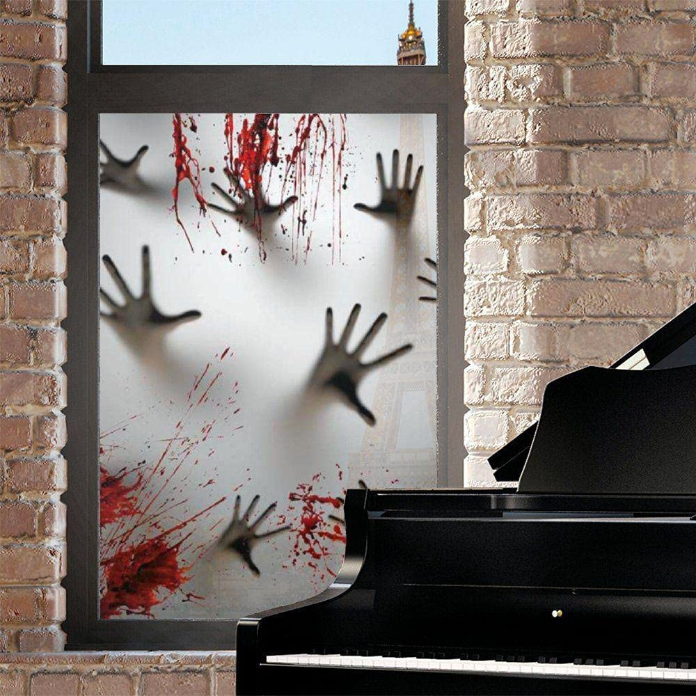 Halloween Window Film NEW Horror Clings Sticker Hallo Scary Manufacturer regenerated product