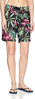 Kanu Surf Women's Hayley UPF 50+ Active Printed Swim and Workout Board Short Board Shorts