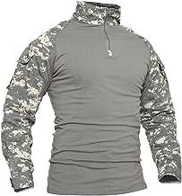 TACVASEN Men's Military Rapid Assault Slim Fit Pullover Long Sleeve 1/4 Zip T-Shirt
