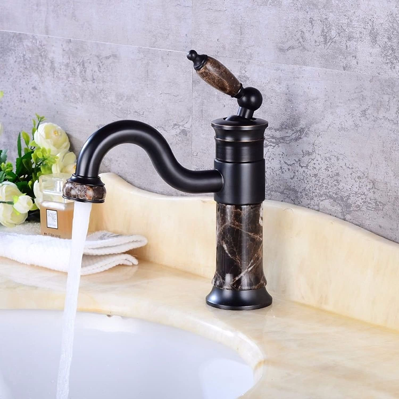 XINSU Home Waschbecken-Mischbatterie Badezimmer-Küchen-Becken-Hahn auslaufsicher Wasser sparen Retro-Swan-Form-Kaltwasser-Keramikventil-Einlochmontage-Einhand-Badezimmer