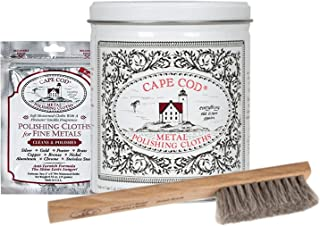Cape Cod Metal Polishing Bundle Variety Pack (1 Pouch, 1 Tin, 1 Brush)