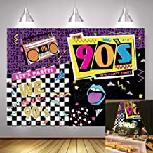 Art Studio 90's Theme Music Party Photography Backdrops Hip-Hop Colorful Graffiti Style Photo Booth Studio Props Let's Party Decor Supplies Background Vinyl 7x5ft