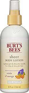 Burt's Bees Sheer Body Lotion, Violet and Mango, 8 Fluid Ounces (Pack of 3)