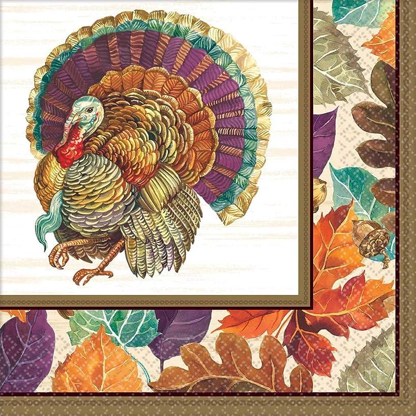 Thanksgiving Traditional Turkey Dinner Napkins, 192 Ct.