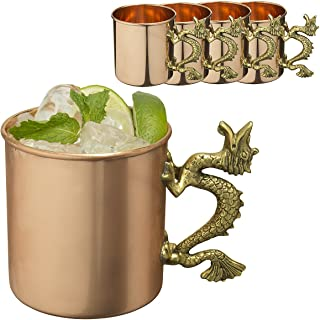 1 Solid Copper 20oz Moscow Mule Mugs With Dragon Handle By Old Dutch ODI