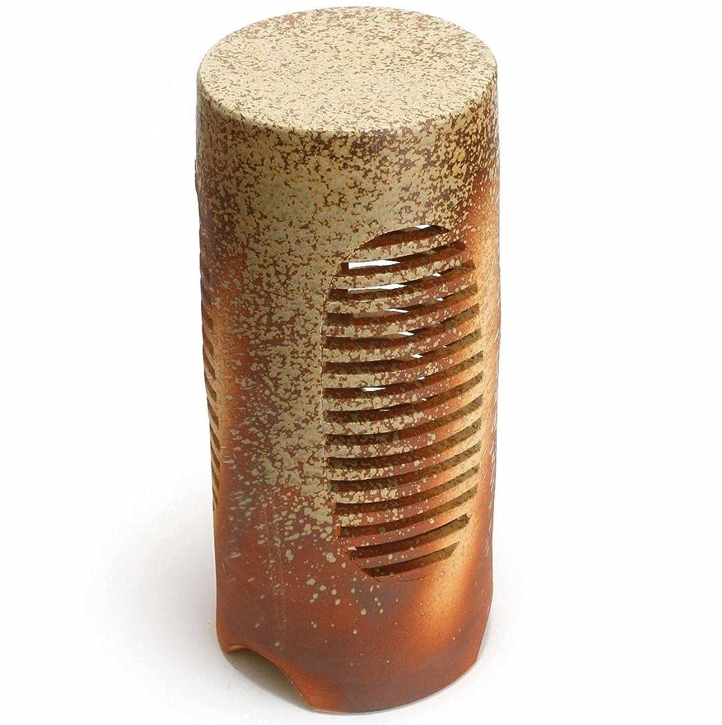 カナダセラフ愛情深い火色 R-002 信楽焼ガーデンライト白熱灯照明付 庭園陶器ライト サイズ:直径200㎜ x高さ450㎜