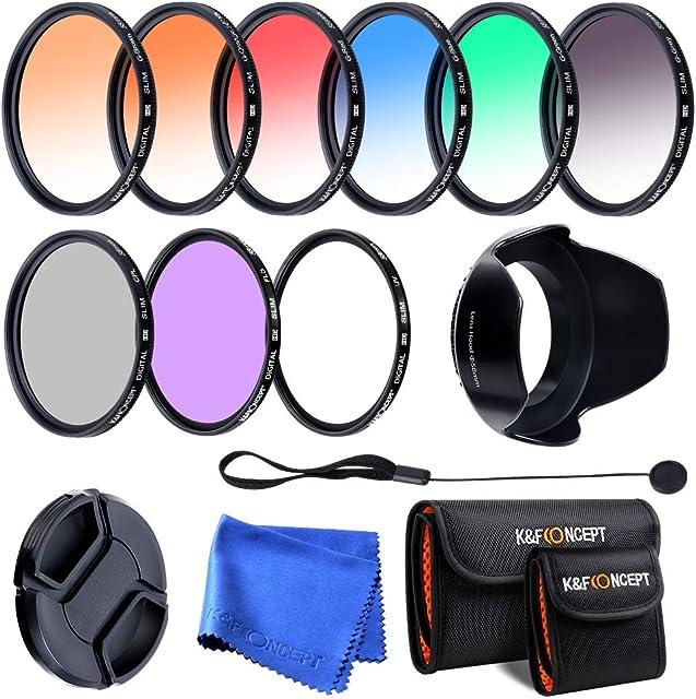 58MM Packs de Filtro Lente Completo Kit para Canon EOS Rebel T6i T6 T5i T5 T4i T3i SL1 DSLR Cámara