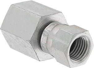 Straight Adapter Steel 10 Units 3//4 in Female JIC 37/° Flare x 3//4 in Male JIC 37/° Flare Brennan