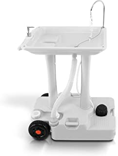 SereneLife SLCASN25 Portable Camping Sink w/Towel Holder & Soap Dispenser-30L Water Capacity Hand Wash Basin Stand w/Rolli...
