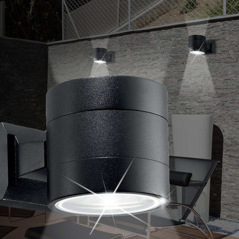 MIA Light Strahler Wand Leuchte AUSSEN 110mm  Modern Schwarz  Alu Lampe Aussenlampe Aussenleuchte Wandlampe Wandleuchte Wandspot Wandstrahler